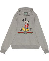 Gucci Худи Из Коллаборации С Disney - Серый