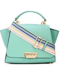 Zac Zac Posen Eartha Convertible Backpack With Rainbow Strap - Green