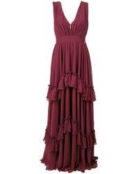 Liu Jo - Tiered Long Empire Dress - Lyst