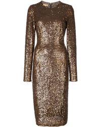 Michael Kors Sequinned Midi Dress - Brown