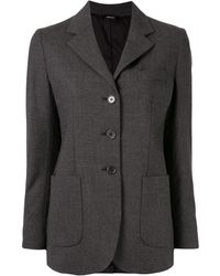 Aspesi Fitted Single-breasted Blazer - Grey