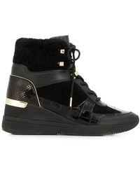 MICHAEL Michael Kors Heeled Hi-top Sneakers - Black