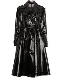 CALVIN KLEIN 205W39NYC Vinyl Trench Coat - Black