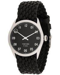Tom Ford Watches Horloge Met Geweven Bandje - Zwart