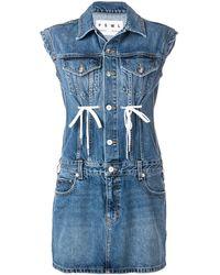PROENZA SCHOULER WHITE LABEL デニム ドレス - ブルー