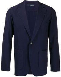 Lardini Blazer à design texturé - Bleu