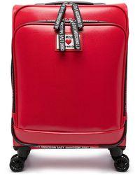 Love Moschino Maletín con 4 ruedas - Rojo