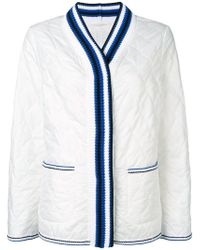 Ermanno Scervino - Quilted Knit Collar Jacket - Lyst