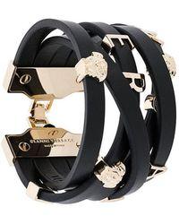 Versace - Medusa Logo Strap Bracelet - Lyst