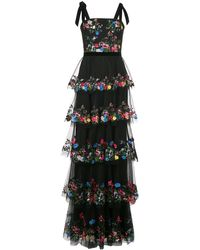 Marchesa notte - Abendkleid mit Blumenstickerei - Lyst