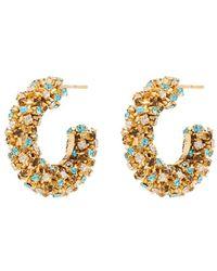 Rosantica Crystal Hoop Earrings - Metallic
