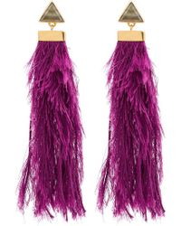 Katerina Makriyianni - Purple Rain Drop Earrings - Lyst