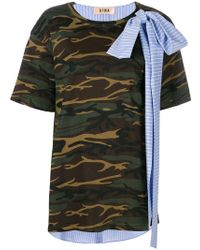 Gina Contrast Bow T-shirt - Multicolour