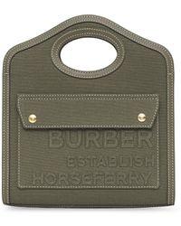 Burberry - Сумка-тоут Horseferry Размера Мини - Lyst