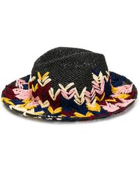 Etro Fly Stitch Embroidered Hat - Black
