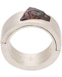 Parts Of 4 Stone Ring - Metallic