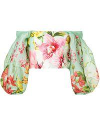 Bambah Блузка С Открытыми Плечами 'lotus' - Многоцветный