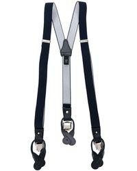 Tagliatore Embroidered Adjustable Braces - Blue