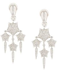 Stephen Webster - 18kt White Gold And Diamond Chandelier Earrings - Lyst