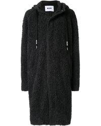 MSGM シアリング コート - ブラック