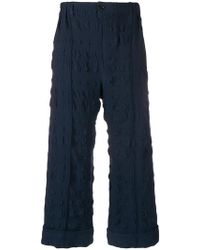 Julien David - Textured Cropped Trousers - Lyst