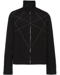Rick Owens Drkshdw - Stitch Detail High Collar Jacket - Lyst