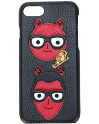 Dolce & Gabbana Designers Iphone 7 ケース - ブラック