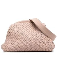 Officine Creative Плетеная Поясная Сумка - Розовый