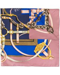 Hermès Pre-owned Grand Manege Scarf - Blue