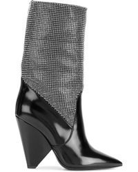 Saint Laurent - Niki Chainmail Boots - Lyst
