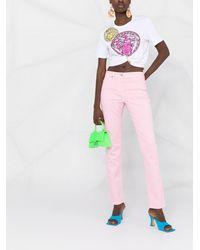 Versace ミッドライズ スリムジーンズ - ピンク