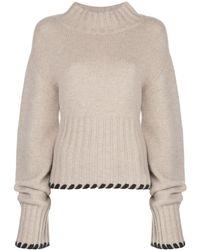 Khaite - Colette Contrast-whipstitching Wool Jumper - Lyst