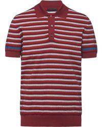 Prada ワッフルニット ポロシャツ - レッド