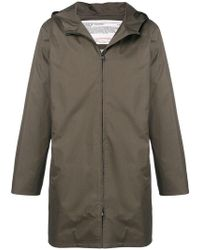 A.P.C. - Hooded Straight Fit Coat - Lyst