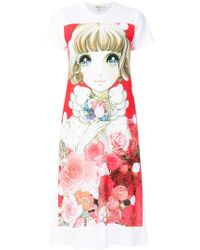 Comme des Garçons - Printed Doll T-shirt Dress - Lyst