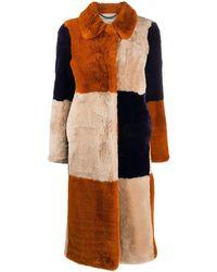 Stella McCartney Шуба Fur Free Fur - Оранжевый