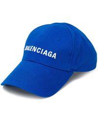 Balenciaga Бейсболка С Вышитым Логотипом - Синий
