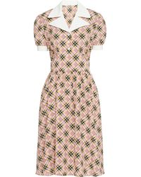 Miu Miu - Robe-chemise imprimée - Lyst