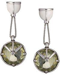 Camila Klein strass embellished drop earrings - Metallic DztdFIck