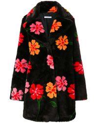 Vivetta - Flower Faux Fur Coat - Lyst