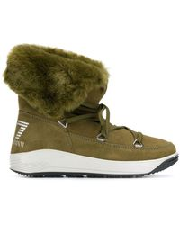 EA7 Lace-up Boots - Green