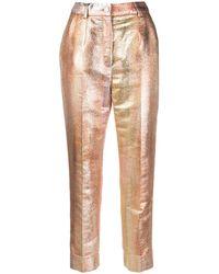 Dolce & Gabbana Укороченные Брюки С Эффектом Деграде - Металлик