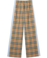 Burberry Vintage Check High-waisted Pants - Multicolor