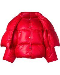 Hache - Scarf Tie Puffer Jacket - Lyst