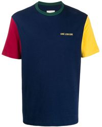 Aimé Leon Dore カラーブロック Tシャツ - ブルー