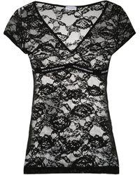 Dolce & Gabbana フローラルレース トップ - ブラック