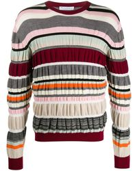 JW Anderson Ruched Stripe Sweater - Multicolor