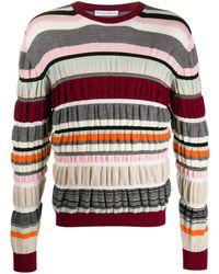 JW Anderson Ruched Stripe Jumper - Multicolour