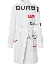 Burberry - Платье-рубашка С Принтом Horseferry - Lyst
