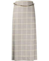 Victoria Beckham チェック スカート - マルチカラー